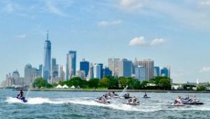 Jet Ski with Bluetooth Speakers in New York