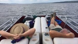 Relaxing on a pontoon boat with 5 of the best bluetooth speakers