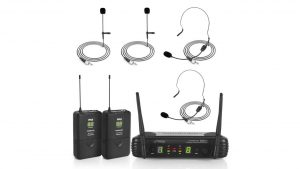 Dual Wireless Microphone System for Portable Pa Systems